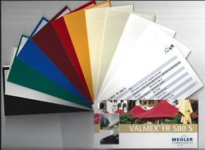 Valmex FR580 Vinyl PVC shade sails colours