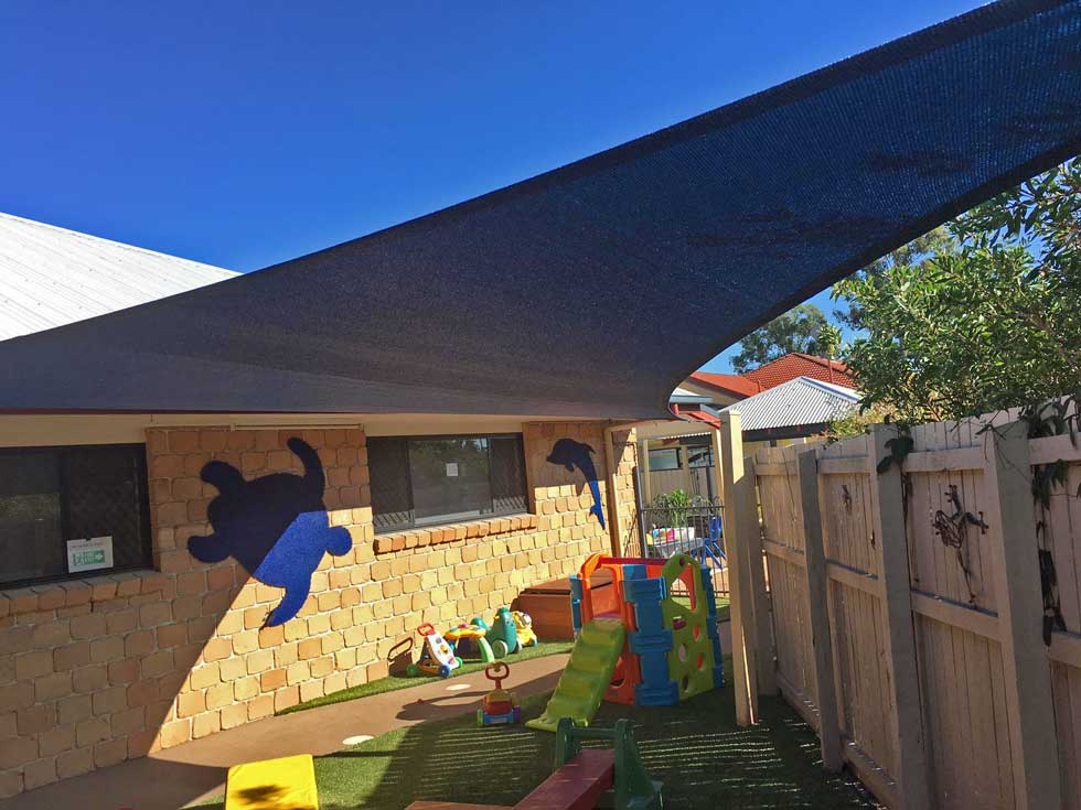 Childcare centre shade sail