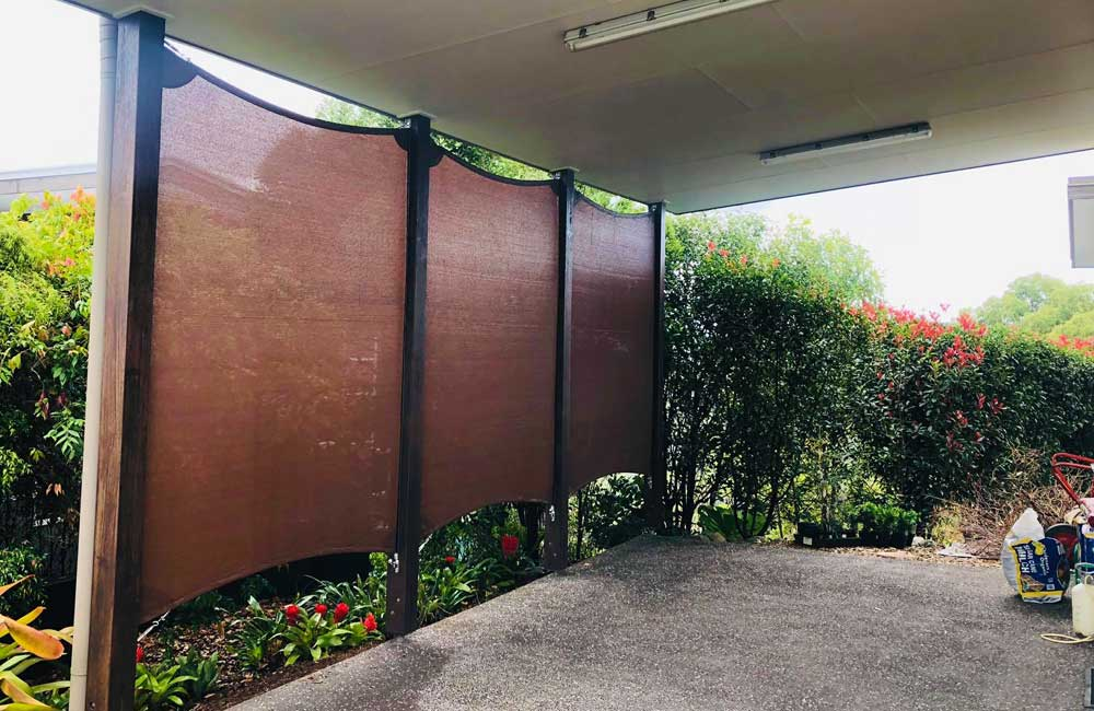 Privacy screen shade sails