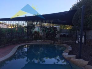 Freestanding Pool Shade Sail